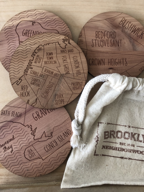 Neighborwoods Brooklyn Coasters (Set of 4)