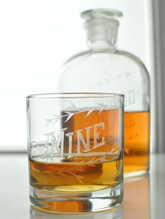 """Mine"" Spirit Decanter Set"