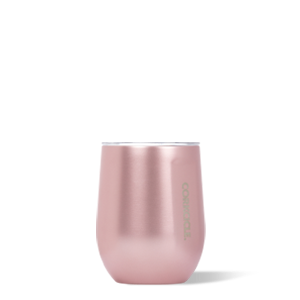 Corkcicle Metallic Rose Stemless Wine Cup