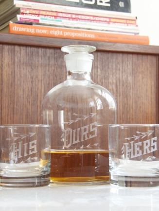 """Ours"" Spirit Decanter Set"