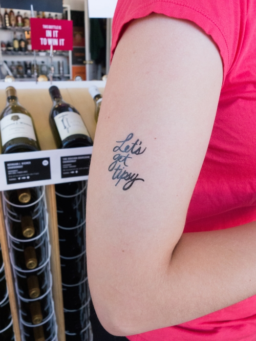 Let's get tipsy tattoos